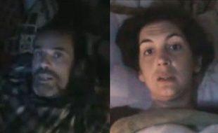 Paul Conroy et Edith Bouvier, blessés à Homs (Syrie), lancent un appel à l'aide dans deux vidéos postées sur Youtube le 23 février 2012.