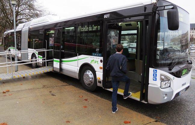 Le nouveau bus articulé «Urbanway» construit par Iveco pour Nantes métropole.