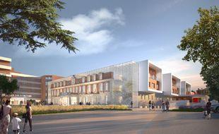 Le projet d'hôpital civil et militaire Bahia à Talence, près de Bordeaux. SANAE Architecture