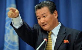 """L'ambassadeur nord-coréen auprès de l'ONU a affirmé vendredi que l'hostilité américaine pouvait """"conduire à la guerre à tout moment"""" tout en réitérant l'offre de Pyongyang d'engager des pourparlers directs avec les Etats-Unis, y compris sur les armes nucléaires."""