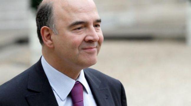 Pierre Moscovici, le ministre de l'Economie, le 13 février 2013 – PATRICK KOVARIK / AFP
