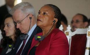 La ministre de la Justice Christiane Taubira, en déplacement en Algérie, le 21 décembre 2015.
