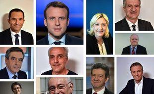 Les onze cnadidats au premier tour de l'élection présidentielle 2017