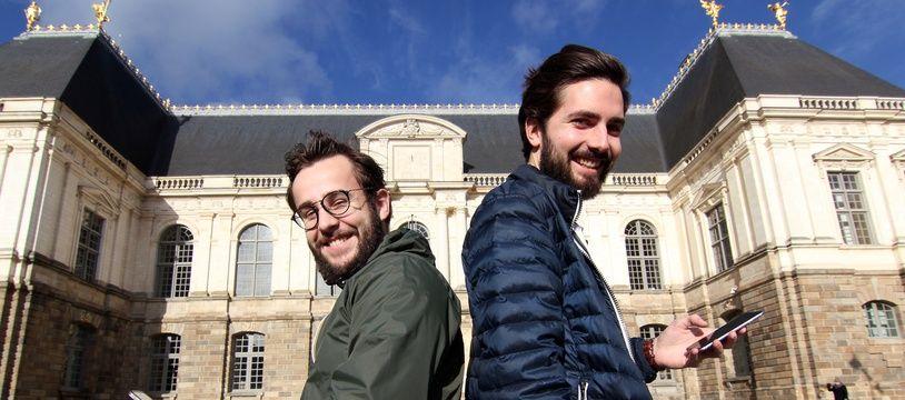 Les Rennais Antoine Delanoë et Quentin Ory ont créé l'application Combat de coqs.