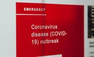 Une affiche liée au Covid-19 (illustration).