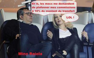Mino Raiola, président du Forum des agents de football, qui s'oppose à la volonté de la Fifa de limiter les commissions des agents sur les transferts.