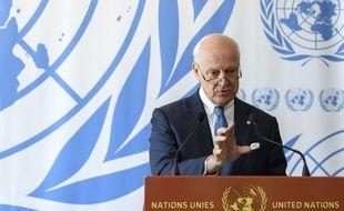 L'émissaire de l'ONU Staffan de Mistura au siège de l'ONU à Genève, le 6 septembre 2017.