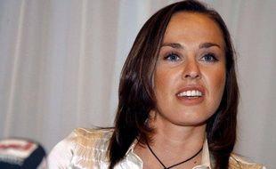 L'ex-joueuse de tennis, Martina Hingis, le 1er novembre 2007 lors d'une conférence de presse à Glattbrugg.