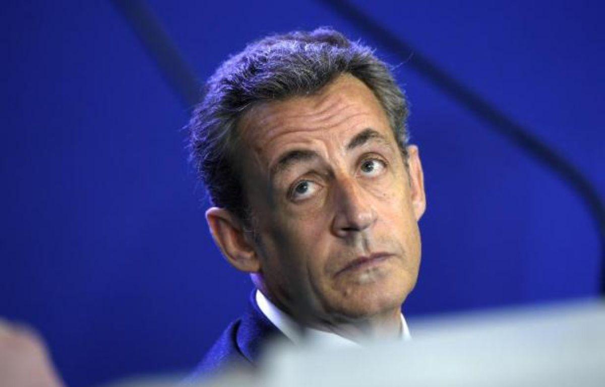 Le président de l'UMP, Nicolas Sarkozy, le 17 janvier 2015 à Paris – Lionel Bonaventure AFP