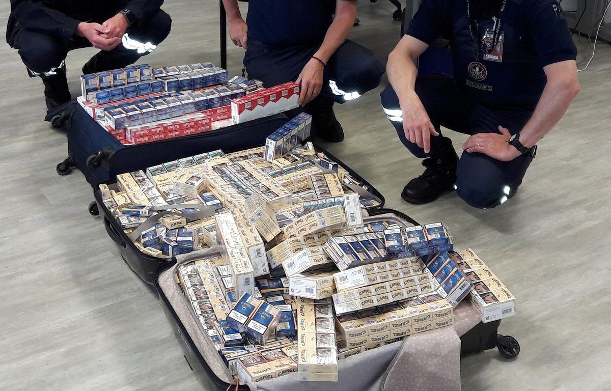 Les cigarettes saisies représentaient une valeur à la revente de 12.530 euros. – Direction régionale des douanes de Bretagne.