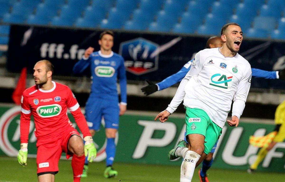 Oussama Tannane s'est encore mis en évidence mercredi en inscrivant le premier but stéphanois lors de la qualification en Coupe de France à Troyes (1-2). FRANCOIS NASCIMBENI – AFP