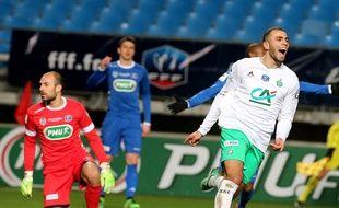 Oussama Tannane s'est encore mis en évidence mercredi en inscrivant le premier but stéphanois lors de la qualification en Coupe de France à Troyes (1-2). FRANCOIS NASCIMBENI