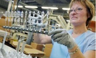 A l'usine Osram de Molsheim.