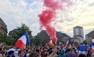 Strasbourg le 15 juillet 2018. Célébration à Strasbourg de la victoire des Bleus en finale de coupe du monde face à la Croatie.