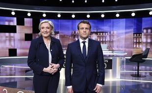 Marine Le Pen et Emmanuel Macron lors du débat du 3 mai 2017.