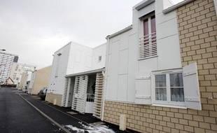 Photo prise le 26 novembre 2010 au Havre de «maisons Borloo», livrées à leurs propriétaires avec de nombreux défauts.