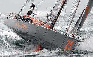 Le skippeur Marc Guillemot, le 10 novembre 2012 lors du Vendée Globe.