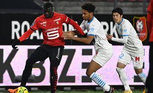 L'attaquant sénégalais du Stade Rennais Mbaye Niang, ici lors de la victoire face à l'OM le 16 décembre 2020 au Roazhon Park.