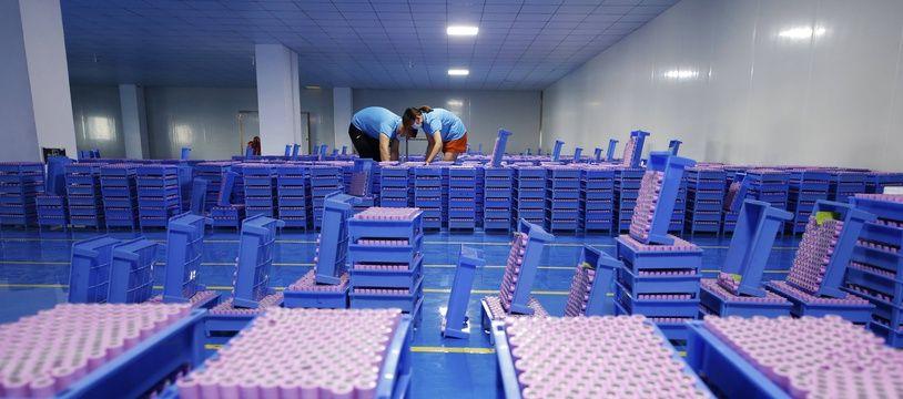Une usine de production de batteries au Lithium en Chine, le 27 juillet 2020.
