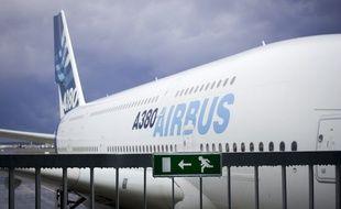 Un A380 sur le tarmac du centre de livraison de Blagnac. Archives
