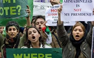 Des manifestations ont aussi eu lieu en Europe, ici aux Pays-Bas.