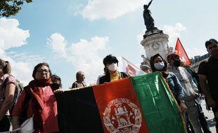 Une manifestation en soutien aux femmes afghanes, à Paris le 5 septembre 2021.