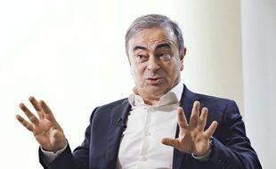 Carlos Ghosn lors d'une interview à Beyrouth le 10 janvier 2020.