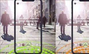 Snapchat lance un filtre spécial distance sociale