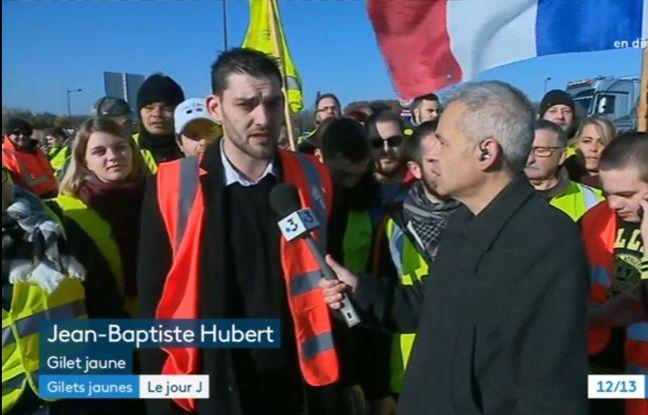 Extrait du JT de mi-journée de France 3 Picardie où était interviewé Jean-Baptiste Hubert.