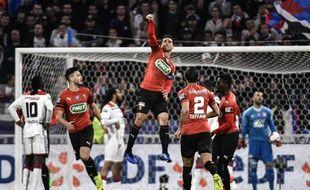 Benjamin André peut jubiler: Rennes a réussi un drôle d'exploit à Lyon. JEFF PACHOUD
