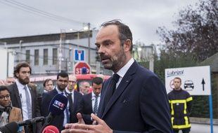 Edouard Philippe était déjà venu sur le site de Lubrizol à Rouen, cinq jours après l'incendie.