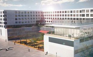 Le bâtiment principal accueillera quatre écoles.