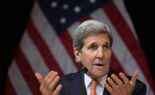 Le secrétaire d'Etat américain John Kerry, le 14 novembre 2015 à Vienne
