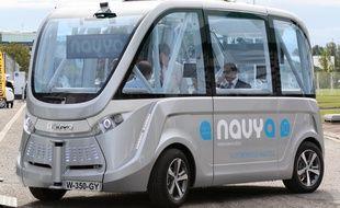 La navette autonome est commercialisée par la société Navya.