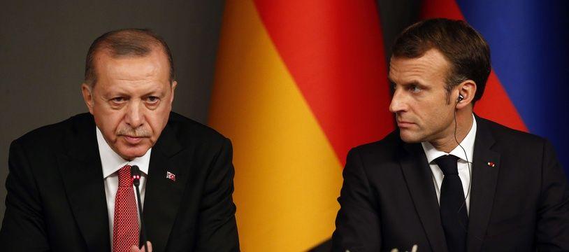 Recep Tayyip Erdogan et Emmanuel Macron à Istanbul, le 27 octobre 2018.