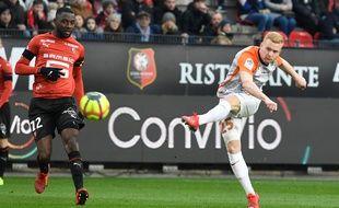 Florent Mollet a frappé sur le poteau dimanche au Stade Rennais.
