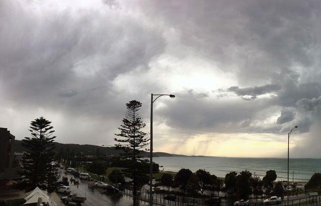 Jour de tempête à Melbourne fin novembre 2016 (Photo illustration).