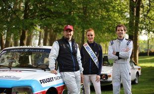 Maëva Coucke et son équipage pour le Tour Auto Optic 2000, le 24 avril.