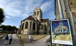 L'église d'Auvers-sur-Oise, le 11 août 2015