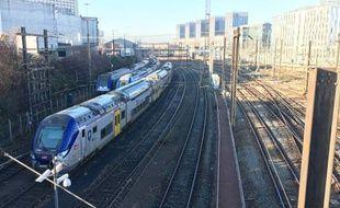 L'arrivée en gare de Lille Flandres.