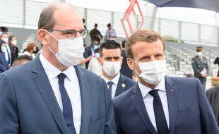 Jean Castex et Emmanuel Macron, le 14 juillet 2020 à Paris.