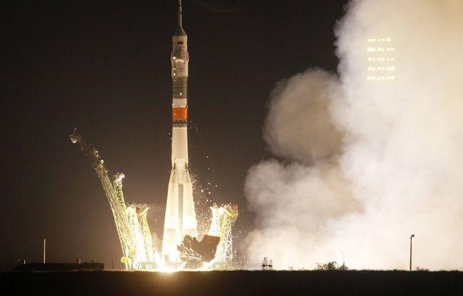 50 ans de l'Homme sur la Lune: Un Américain, un Russe et un Italien en route pour la Station spatiale internationale