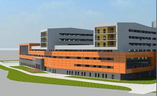 Projection de la future clinique du Sud-Est toulousain.