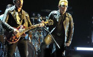 The Edge et Bono sur scène