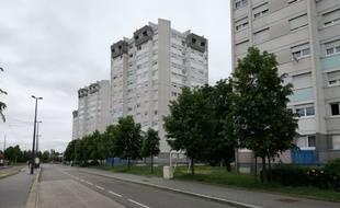 Dans le quartier de l'Elsau, à Strasbourg, où vit une importante communauté de réfugiés tchétchènes, ce dimanche.