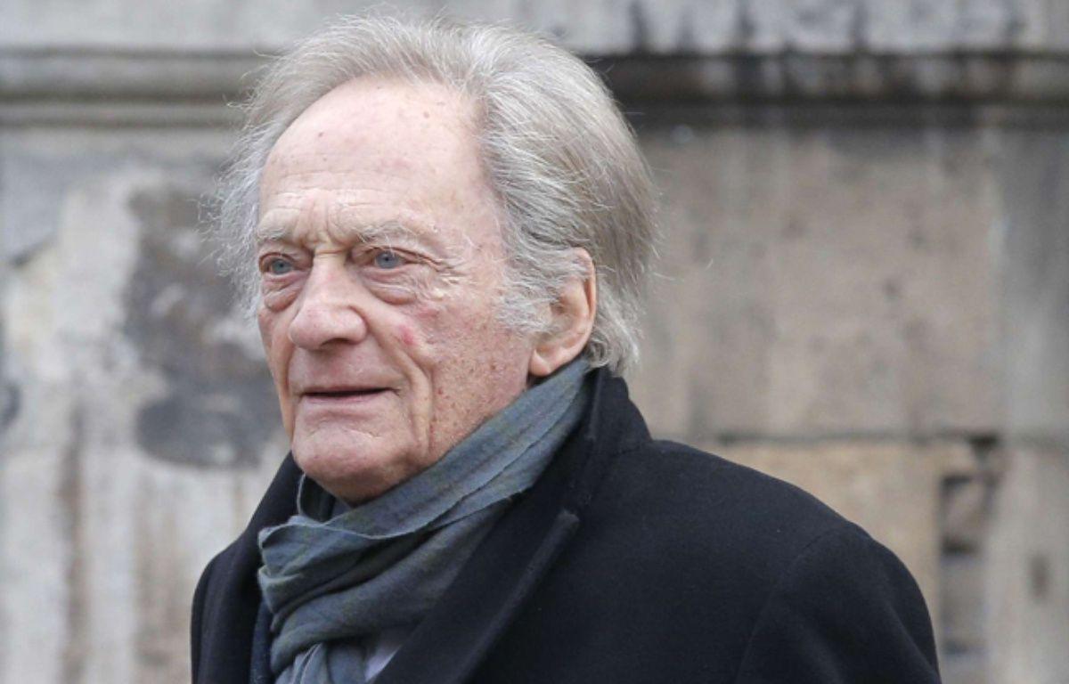 Philippe Tesson à Paris le 6 janvier 2015 pour les funérailles de Jacques Chancel – Christophe Ena/AP/SIPA