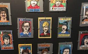 L'exposition Haicut Football Club met en valeur les coupes de footballeurs, réel ou imaginaires, a travers des vignettes réalisées par des artistes.