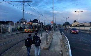 Le projet de gare de Castelnau-le-Lez est prévu près de l'arrêt Notre-Dame-de-Sablassou.