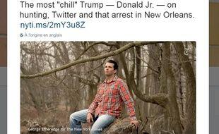 Le tweet du New York Times Style sur Donald Trump Jr