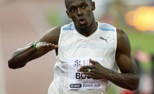 Le sprinter Usain Bolt lors d'une épreuve de Golden League, le 5 septembre 2008 à Bruxelles.
